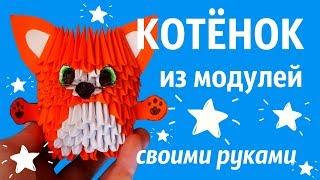 КОТЁНОК Из Модулей  | Модульное Оригами | Мастер Класс