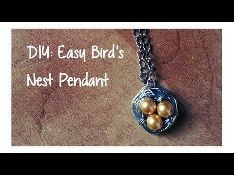 Diy easy birds nest pendant youtube diy easy birds nest pendant aloadofball Choice Image