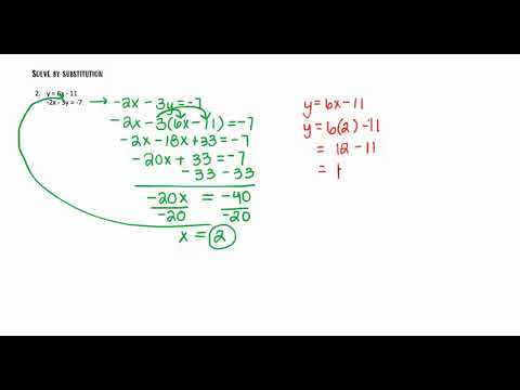 Algebra 1 Tutoring: Solving Systems of Equations by Substitution