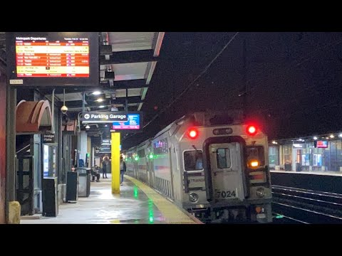 NJT Train 3887 Wrong-Railing West Out Of Metropark Station Track 1 On The Northeast Corridor 2/26/20