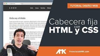 Cómo crear una cabecera fija responsive con HTML y CSS