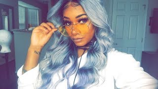 Unicorn GREY  HairColor Tutorial | Customizing Lace Frontal & Coloring ft. YWigs