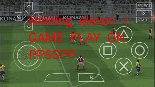 Winning eleven 9.game play on ppsspp emulator android.