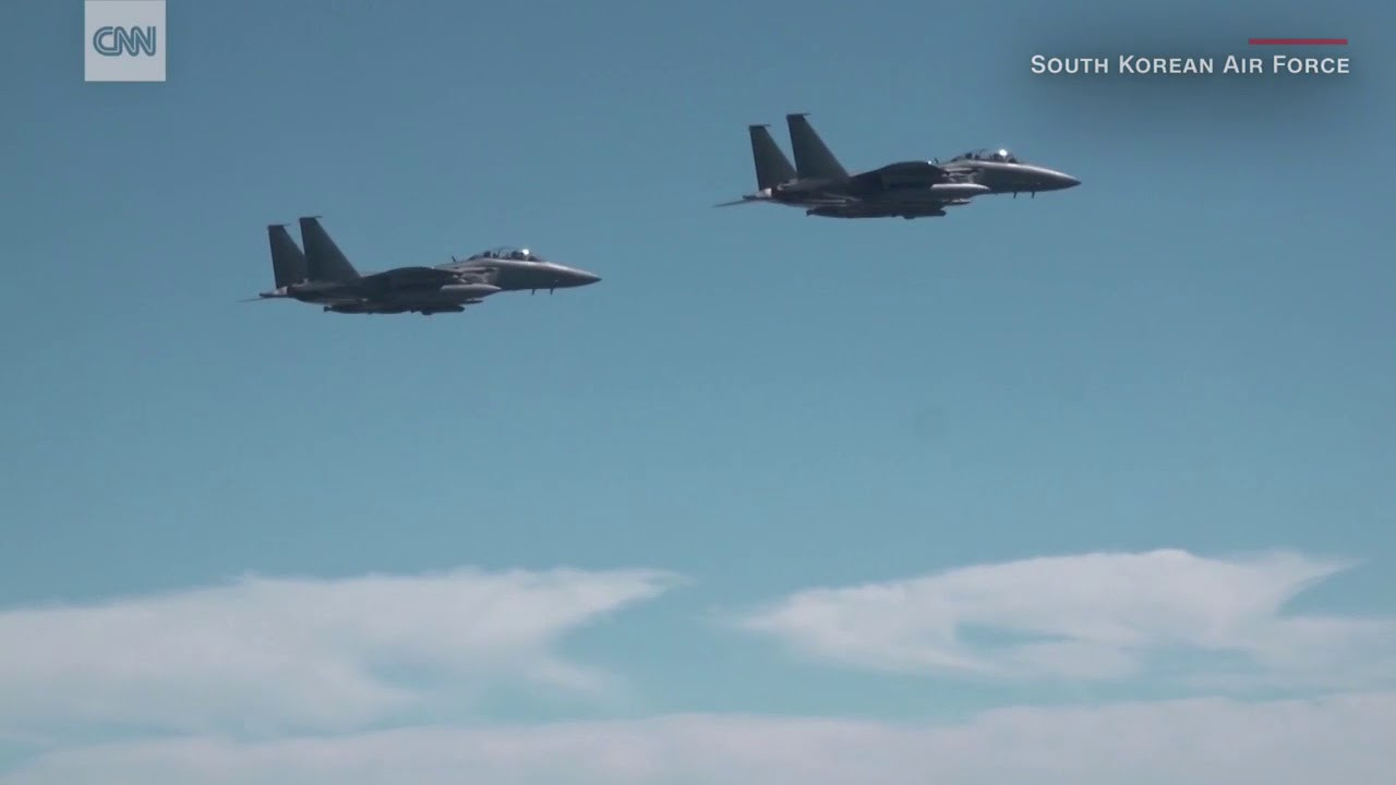 US fighter jets fly over Korean Peninsula