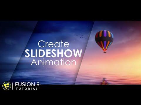 Slideshow Animation in Fusion | BlackMagic Fusion 9 Tutorial