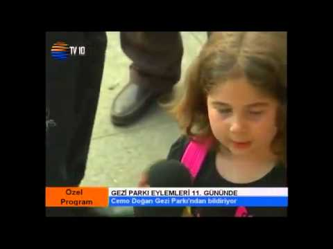 9 Yaşındaki Kız: her gün direniş - taksim gezi park istanbul