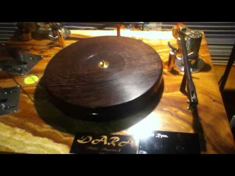 DIY Turntable With Schroeder Styled tonearm , and wood plinth
