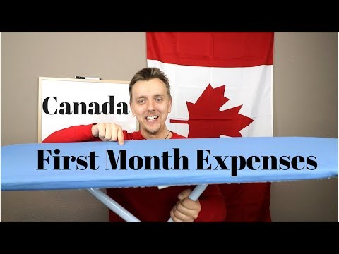 First Month Expenses In Canada | International Students & Immigrants