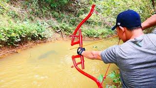 Building Amazing PVC Power Springs Bowfishing For Shooting Fish  -Make n Use