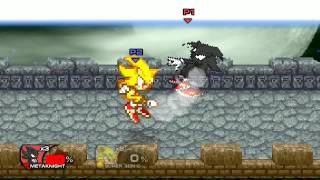 Super Smash Flash 2 Mod Dark Sonic Vs Super