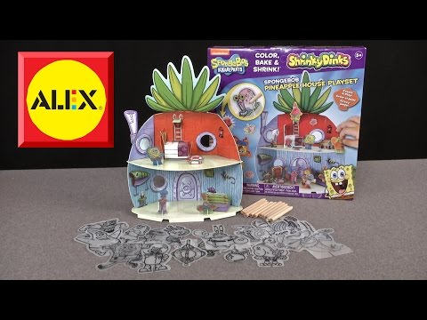 Shrinky Dinks SpongeBob SquarePants Pineapple House Playset from Alex