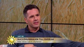 Peter Jöback om sina likheter med Fantomen på operan - Nyhetsmorgon (TV4)