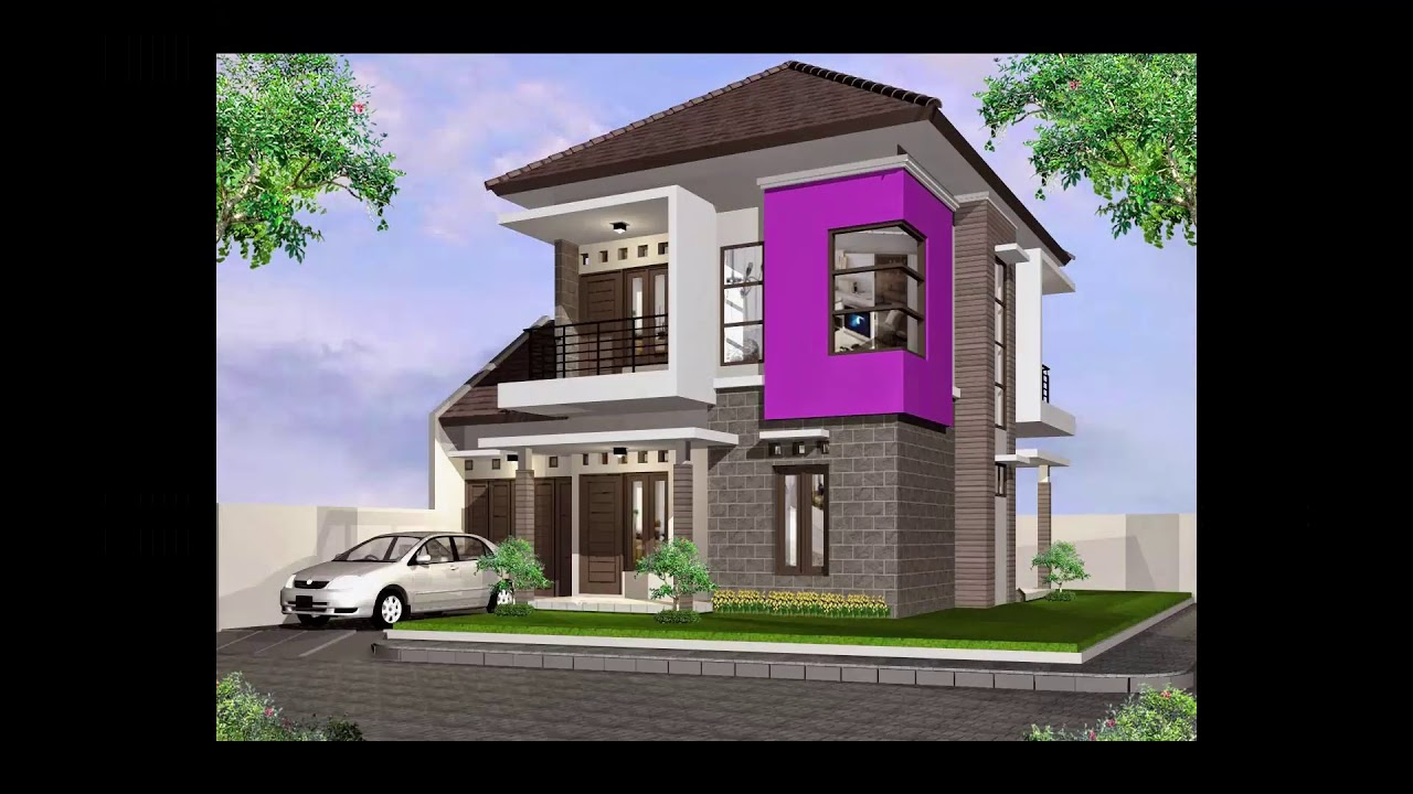 Hot Desain Rumah Minimalis 2 Lantai Ukuran 8x15 YouTube