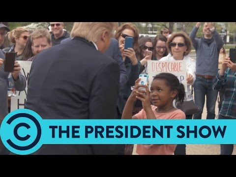 """You're A Disgrace"" The President Meets An Epic Little Girl - The President Show 