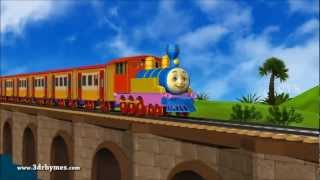 Chuku chuku railu vastundi - 3D Animation Telugu Rhymes for children with lyrics -kidssongs.MP4
