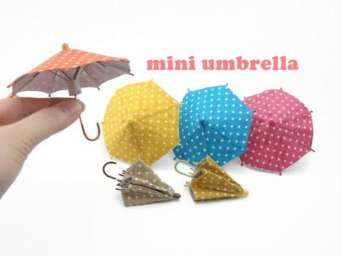 DIY Miniature Doll Mini Umbrella - Can Open & Close!