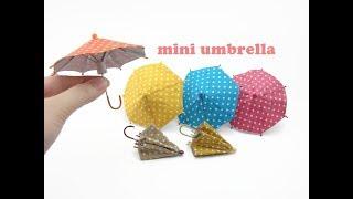 DIY Miniature Doll Mini Umbrella - Can Open &amp Close!
