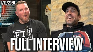 Pat McAfee & Aaron Rodgers Talk Jeopardy Wins, Conversations With Tom Brady, And Meeting Ric Flair