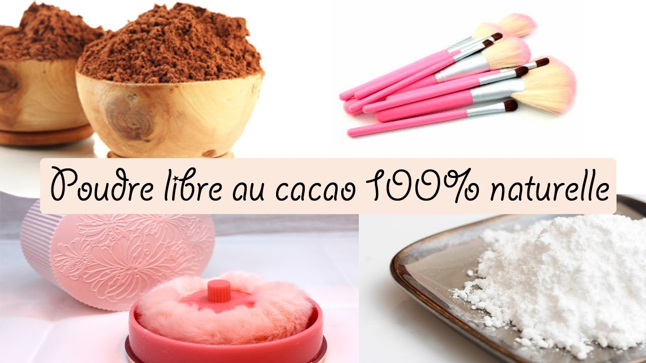 Diy Poudre Libre Pour Le Teint 100 Naturelle Au Chocolat Youtube