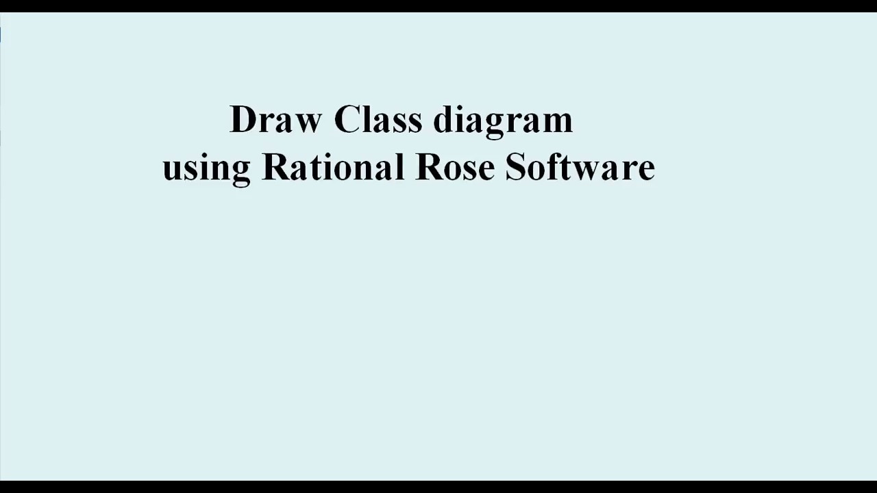 Rational Rose: How to draw Class Diagram - YouTube