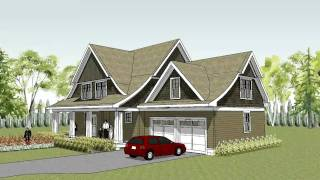 Unique Cape Cod House Plan With Curved Roof Line - The Lake Elmo Colonial