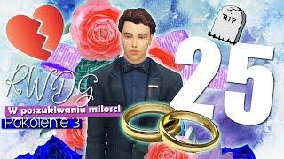 ŚLUB, ROZWÓD I POGRZEB w jednym odcinku - The Sims 4 RWDG Challenge ODCINEK 26 Pokolenie 3