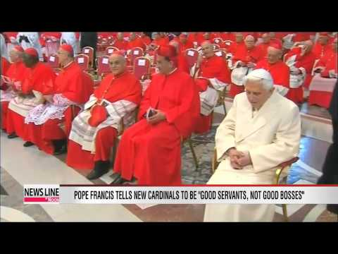 Pope Francis and newly appointed cardinals hold first mass