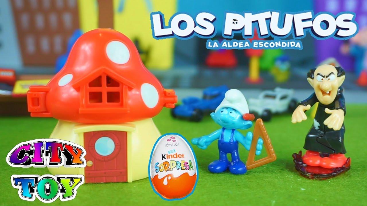 Jlar45 Juguetes En Sorpresas Huevos La De Los Pitufos Aldea Escondida 8nOPwX0k