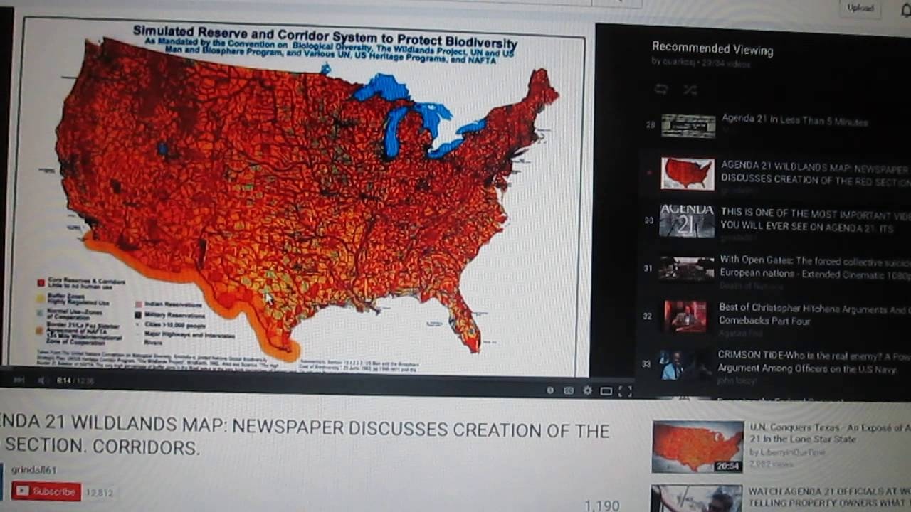 Agenda In Hawaii YouTube - Agenda 21 map of us