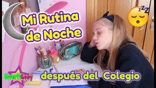 MI RUTINA DE NOCHE DESPUES DEL COLEGIO!! DANIELA DIVERTIGUAY