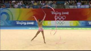Evgenia Kanaeva Beijing 2008 Ribbon(Evgenia Kanaeva´s ribbon routine at the 2008 Olympic Games in Beijing AA Finals. Wonderful!!! Thanks to yoana-kristaNOR for the video!, 2010-06-05T09:59:56.000Z)