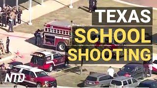TX School Shooting Suspect in Custody, 4 Hurt; Senators, Govs. Call on Biden Over Border   NTD