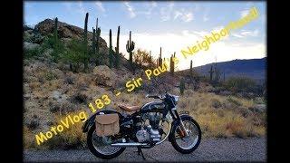 MotoVlog 183 - Sir Paul's Neighborhood! - Royal Enfield Bullet 500
