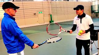 Tennis Lesson | How to Hit Forehand & Backhand