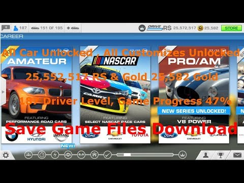 (No Root) Real Racing 3 V5.5.0 Mod/Save Game Files For Android | All Cars & Customizes Unlocked