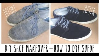 DIY shoe makeover - How to dye suede & refresh your favourite pumps