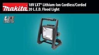 MAKITA 18V LXT® Cordless/Corded L.E.D. Flood Light (DML805)