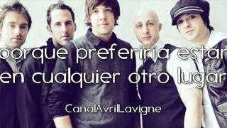 Simple Plan - Anywhere Else But Here (Traducida Al Español)