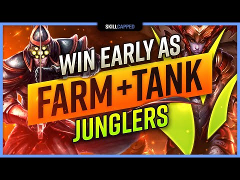How to WIN EARLY on TANKS and POWER FARMING Junglers! - Skill Capped