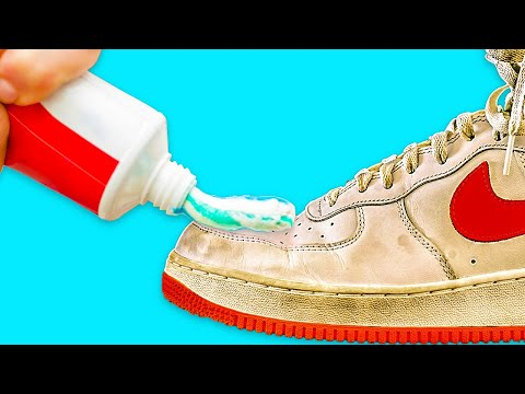 40-recipes-to-clean-everything-in-just-a-few-minutes-||-white-shoes-stains-removal