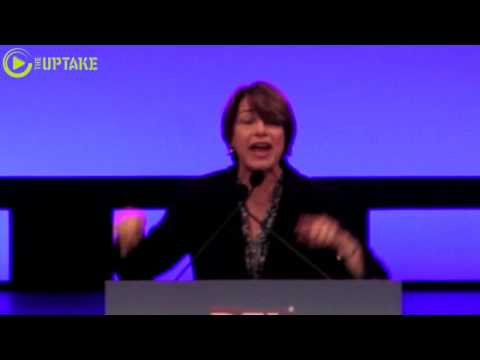 Sen. Amy Klobuchar Addresses MN Democratic Party Convention