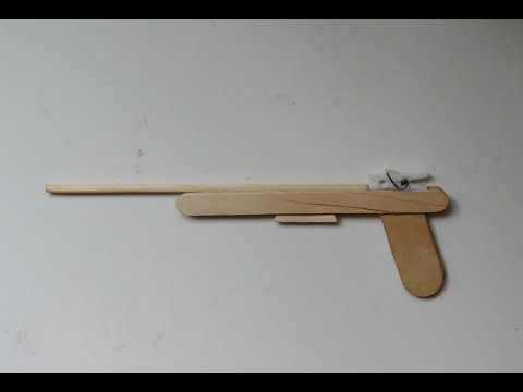 How To Make A Popsicle Stick Rubber Band Gun Full Hd