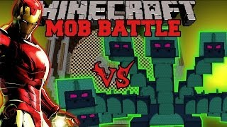 HYDRA VS IRON MAN - Minecraft Mod Battle - Mob Battles - Superheroes and Twilight Forest Mods