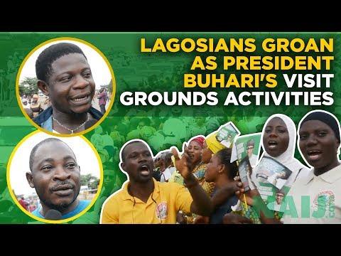 Lagosians groan as President Buhari's visit grounds activities | Legit TV