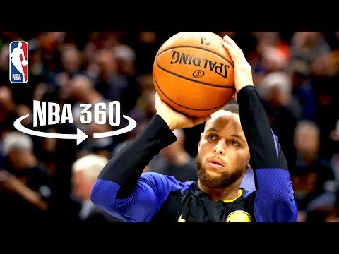 NBA 360 | Stephen Curry Splashes from the Logo | 2018 NBA Finals