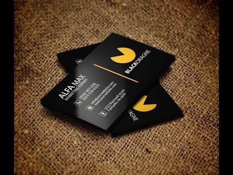 How To Design Professional Business Card Design - Illustrator cc Tutorial - Graphics Design 2018