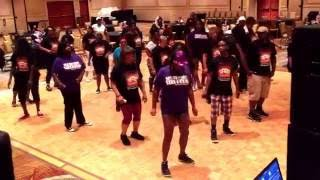 Reginald Sullivan, Southside Steppers - Atlanta, Ga. instructs No Time For It. Chor.; Peaches of SSS