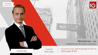 #MarketLive 16h - Jeudi 19 mars 2020