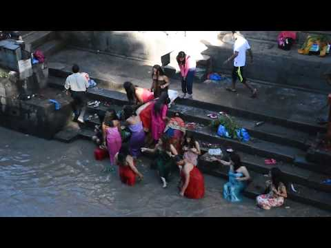 Holy Bath at Gaurighat in Bagmati River. GN TV.