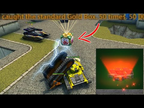 Tanki Online - Caught 50 000 SUPER GOLD?!  2020 April Fool's Day Gold Boxes! #1  | Танки Онлайн